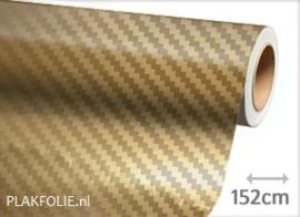 Carbon goud chr. 3D (wrap) folie 152CM