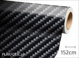 Carbon zwart glans 2D (wrap) folie 152CM BREED x P/M