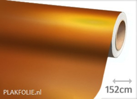 Mat chroom oranje (wrap) folie 152CM BREED x P/M
