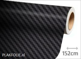 Carbon zwart 3D (wrap) folie 152CM BREED x P/M
