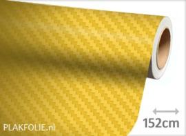 Carbon geel 3D (wrap) folie 152CM