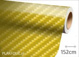 Carbon geel 2D (wrap) folie 152CM BREED x P/M