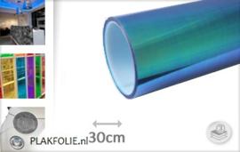 Flipflop blauw tint folie 30CM BREED x P/M LENGTE ZELFKL.
