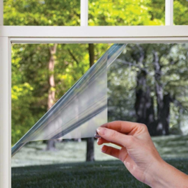 Zon/zicht/warmtewerend - Spiegel effect 90x150cm ZELFKLEVEND (p/rol)