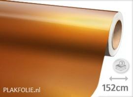 Glans metallic oranje (wrap) 152CM