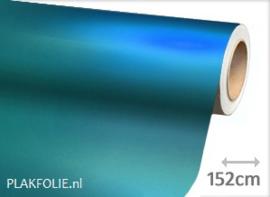 Mat chroom li. blauw (wrap) folie 152CM