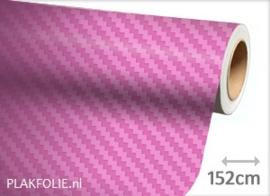 Carbon roze 3D (wrap) folie 152CM BREED x P/M