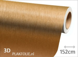 Brushed - alu gold (wrap) folie 152CM