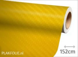 Carbon geel 4D (wrap) folie 152CM