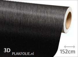 Brushed - zwart (wrap) folie 152CM