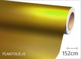 Mat chroom geel (wrap) folie 152CM