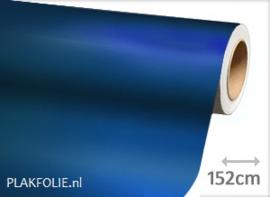 Mat chroom blauw (wrap) folie 152CM BREED x P/M