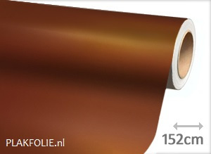 Mat chroom bruin (wrap) folie 152CM
