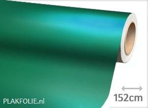 Mat chroom turqoise (wrap) folie 152CM