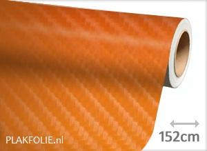 Carbon oranje 4D (wrap) folie 152CM