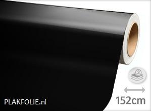 Glans Zwart Wrapfolie 152cm Breed X P M Lengte