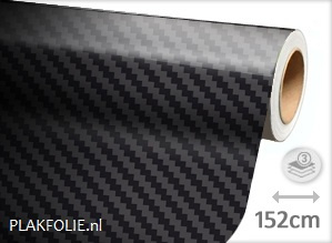 Carbon zwart 5D (wrap) folie 152CM