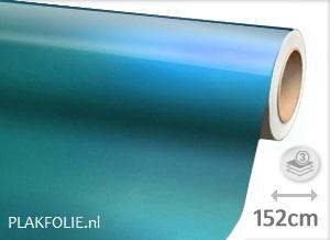 Glans metallic licht blauw (wrap) 152CM