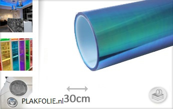 Flipflop blauw tint folie 30CM