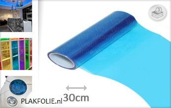 Blauw tint folie 30CM BREED x P/M LENGTE ZELFKLEVEND