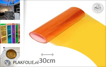 Oranje tint folie 30CM BREED x P/M LENGTE ZELFKLEVEND