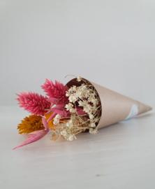 Mini bosje droogbloemen