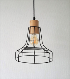 Draadlamp zwart