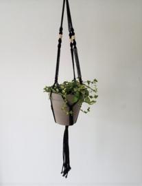 Macrame plantenhanger zwart
