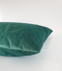 Velours kussen Jade green