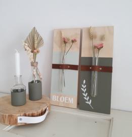 DIY Lente pakket Muurbloemvaasje