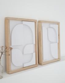 DIY pakket WOOD art reliëf