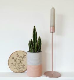 Kandelaar vintage pink