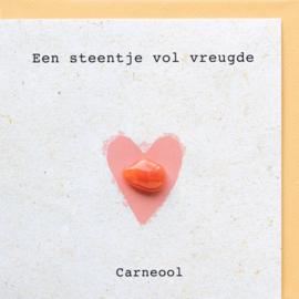 Wenskaart met een Carneool