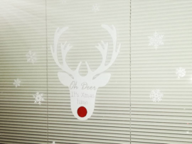 "Rendier ""Oh deer, it's Xmas time"""