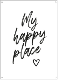 Tuinposter | My Happy Place