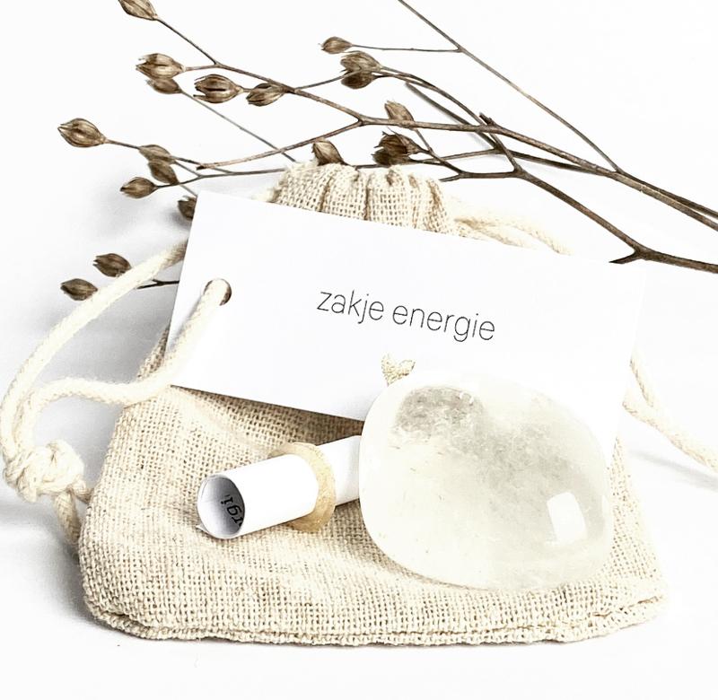 Zakje Energie - Bergkristal (zakje met gratis naam)