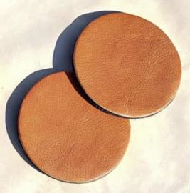 Onderzetters set 2- delig bruin