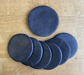 Onderzetters set 7-delig  zwart