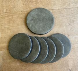 Onderzetters set 7-delig  groen