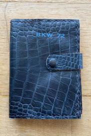 noteboek blauw croco