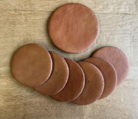Onderzetters set 7-delig bruin
