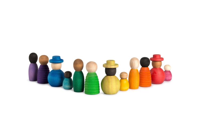 Samen over de regenboog