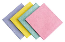 Schoonmaakdoeken geel - Doos 100 stuks