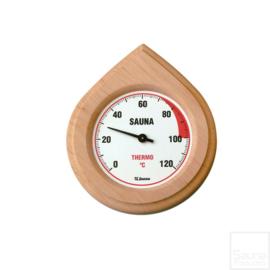 Sauna thermometer hout met beschermingsglas.