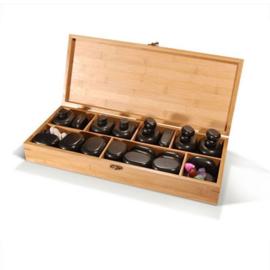 64 stuks hotstone stenen in houten doos