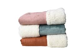 Velvet teddy deken