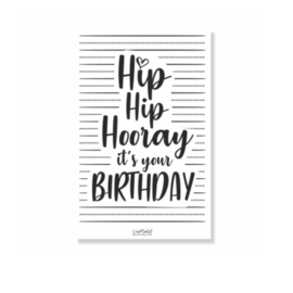 Mini kaartje | Hip hip hora, it's your birthday