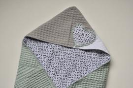 MiNi omslagdoek | verschillende wafel - dots