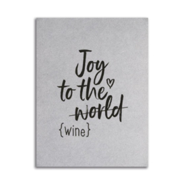 Kerstkaart | Joy to the wine