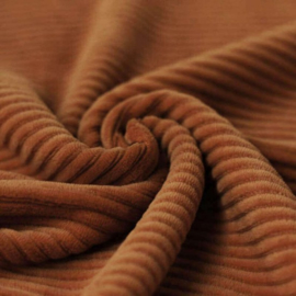 KNITTED CORDUROY | COGNAC
